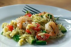Bobby Flay's Greek Orzo and Grilled Shrimp Salad with Mustard-Dill Vinaigrette