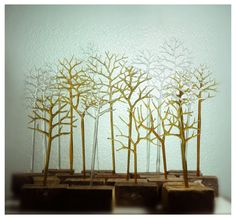 recycled glass trees