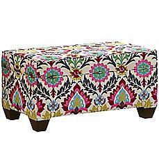 image of Skyline Furniture Storage Bench in Santa Maria Desert Flower