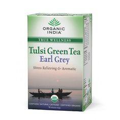 Organic India Tulsi Green Earl Grey 18 Tea Bags Buy