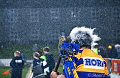 Hori the BOP mascot had to brave Southland's weather. Southland Stags 34 - 23 Bay of Plenty. ITM Cup rugby action at Rugby Park, Invercargill. August 15, 2014.
