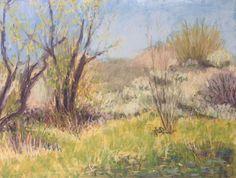 Landscape Painting Original Pastel by Paige Smith-Wyatt Wall Art