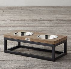 Oak & Iron Pet Bowl Set - Medium                                                                                                                                                                                 More
