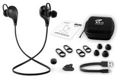 SoundPEATS QY7: For around $20, you get a pile of surprisingly high-end features including noise cancellation, three ear tips and two types of ear hooks to provide a comfortable fit, sweat resistance for workouts and a built-in microphone and controls.