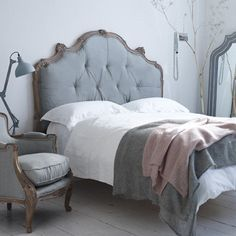 Grey bedroom. For more like this, click the picture or visit RedOnline.co.uk