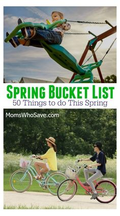 Ready to officially kiss winter goodbye? If you're looking for some fun things to do, check out our spring bucket list. Then jump into the season with our list of 50 things to try this spring. Smash Book, Fun Games For Kids, Activities For Kids, Parent Resources, Walking In Nature, Go Camping, Happy Kids, Parenting Advice, Cool Kids