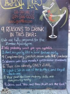 9 reasons to drink in this bar: