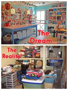 Sewing Room Dream vs Reality