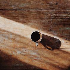 Coffee in morning light.