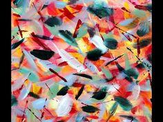Acrylic painting / spring impression   -  Acrylmalerei / einfache Frühli...
