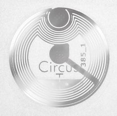 NFC Sticker, 22mm, NTAG 213, 168 Byte, transparent