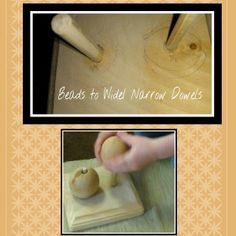 Beads to Wide/Narrow Dowels. Homemade Montessori