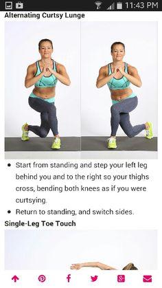 Alternating curtsey lunge