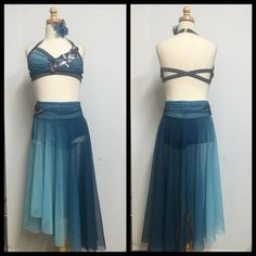 like the back straps and like the ombre blue. Skirt is too long.