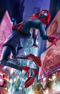 Miles Morales - Ultimate Spider-Man, Into the Spider-Verse Amazing Spiderman, Black Spiderman, Spiderman Spider, Spider Gwen, Marvel Fanart, Marvel Comics Art, Marvel Heroes, Marvel Avengers, Spiderman Marvel