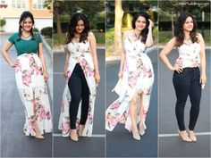 One Versatile Maxi – Presented 4 ways! Fat Girl Outfits, Casual Outfits, Summer Outfits, Honeymoon Dress, Casual Frocks, Fashion Terms, Dresses With Leggings, Indian Outfits, Cotton Dresses