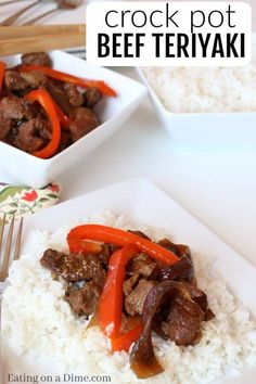 Try Crock pot beef teriyaki recipe for a simple and delicious dinner idea. This beef teriyaki stir fry recipe does not disappoint. Everyone will love Slow cooker teriyaki beef recipe. Once you know how to make beef teriyaki, it will be on your regular menu plan! Try simple teriyaki beef recipe. #beef #crockpot #recipes #crockpotrecipes