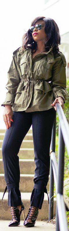 Military Green / Fashion By Jadore-Fashion