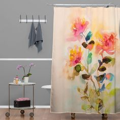 Marta Spendowska Watercolor Vintage Roses Shower Curtain | DENY Designs Home Accessories