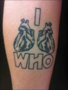 "50 Fantastic ""Doctor Who"" Tattoos   I would just want the hearts, but on my back, with color!"