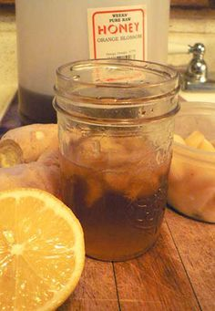 Cough/cold mix- 1/2 cup raw honey, 1/2 lemon, 2 garlic cloves, chunk of ginger, 2 tsp turmeric, pinch black pepper. Mix in jar, keep in fridge. Tsp as needed. Replace garlic & ginger daily.