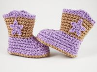 Giddy-up! These adorable booties are perfect for the littlest cowgirl or cowboy in your life.  ~ Add It To Your Ravelry Queue or Favorites ~ Skill Level: Ea