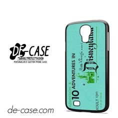Disneyland Ticket DEAL-3461 Samsung Phonecase Cover For Samsung Galaxy S4 / S4 Mini