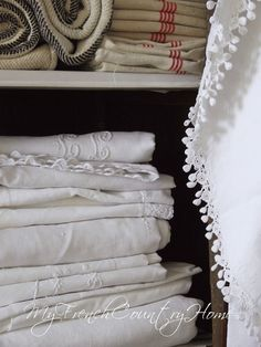 Antique french linen⋱‿✿