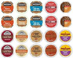 Coffee Variety Pack for Keurig Kcup Brewers Fall Flavors Pack of 20 ** Continue to the product at the image link.  This link participates in Amazon Service LLC Associates Program, a program designed to let participant earn advertising fees by advertising and linking to Amazon.com.