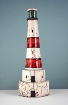 Goodwin-Jones Ceramics - Gallery - Three Dimensional - 3D44 Red Lighthouse…