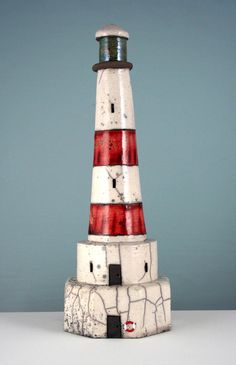 Goodwin-Jones Ceramics - Gallery - Three Dimensional - 3D44 Red Lighthouse…