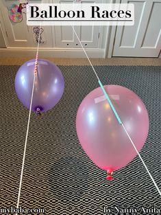 Balloon Races For A Rainy Day | Nanny Anita | My Baba