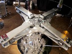 Aviation Furniture Table with a Dolphin Helicopter by Jean-Pierre Carpentier 5