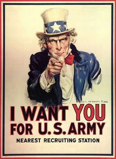 Maybe one or two old military posters?
