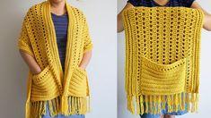 Shawl Patterns, Knitting Patterns Free, Baby Knitting, Crochet Patterns, Crochet Crafts, Easy Crochet, Crochet Projects, Knit Crochet, Crochet Cocoon