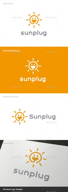 Sun Plug Logo - Objects Logo Templates
