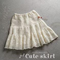 Crochet skirt http://item.rakuten.co.jp/gosyo/212ss-09/