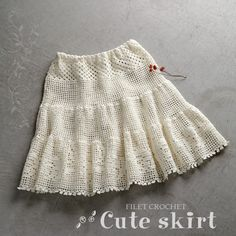 Crochet skirt http://item.rakuten.co.jp/gosyo/212ss-09/