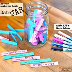 How to Make Date Jar Gift - 30 Easy DIY Gifts For Boyfriend You Should Make with Love - DIY & Crafts
