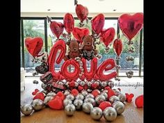 Valentines Decoration, Valentines Gift Box, Valentine Bouquet, Valentines Balloons, Valentines Flowers, Birthday Balloons, Balloon Gift, Balloon Garland, Balloon Decorations