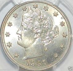 1897 Liberty Nickel. PCGS MS63  $190.00 Free Shipping