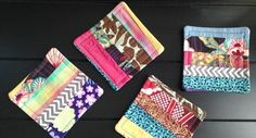 Fabric Scrap Coasters | Whimseybox