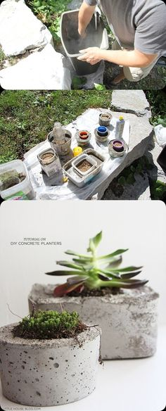 DIY Concrete Planters ~ Quikrete Products available @ your Amarillo Texas distributor: Specialty Supply Building Products, 118 S Lipscomb (806) 378-8888   www.amarilloconcretesupply.com