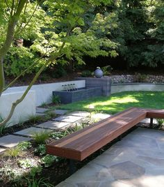 Urban Garden Bench Design, Pictures, Remodel, Decor and Ideas - page 2 Modern Landscape Design, Modern Landscaping, Contemporary Landscape, Landscape Architecture, Backyard Landscaping, Backyard Ideas, Patio Ideas, Contemporary Design, Modern Design