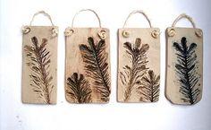 Clay with leaf impressions