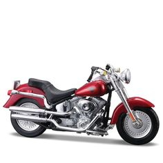 Miniatura Moto Harley-Davidson 2004 FLSTFI Fat Boy Maisto 1:18 - Machine Cult | A loja das camisetas de carro e moto