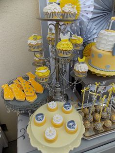 Tutus or Ties Grey and Yellow Gender Reveal Baby Party