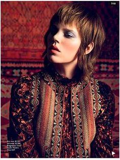 Freja Beha Erichsen | Inez van Lamsweerde and Vinoodh Matadin | Vogue Australia September 2014 - Folk Tale