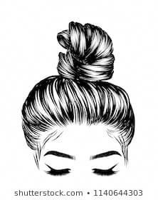 Woman with stylish classic buds with stock vector (royalty free) 1140644303 - Search Woman Stylish Classic Bun Perfet Eyebrow Stock Images in HD and millions more royalty-free s - Perfect Eyebrow Shape, Perfect Eyebrows, Art And Illustration, Business Hairstyles, Models Makeup, Art Drawings Sketches, Beauty Art, How To Draw Hands, Royalty Free Stock Photos