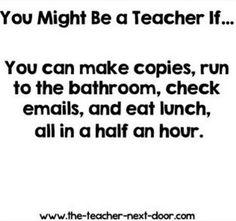 So true! Find more Teacher Humor at The Teacher Next Door. School Teacher, Teacher Humour, Teacher Sayings, Teacher Stuff, Being A Teacher, Classroom Humor, Classroom Ideas, Teaching Memes, Frases